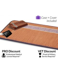Infrared Therapy Amethyst Bio-Mat Professional + Amethyst Pillow - $100 discounted for the Veteran
